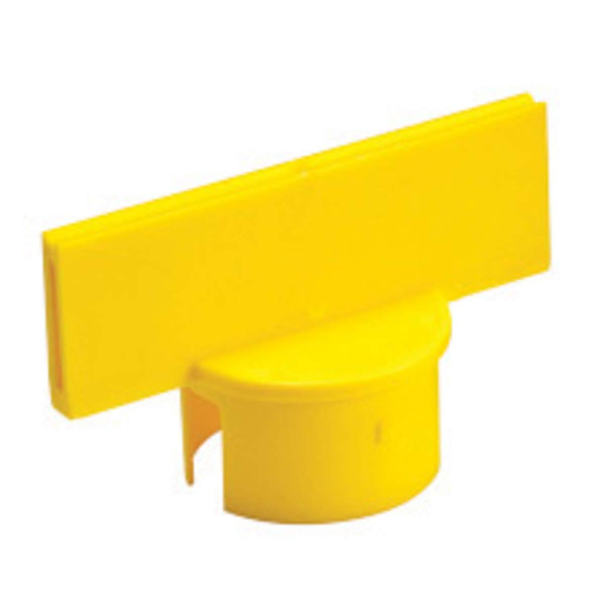 Brady 2'' X 6'' Yellow B-900 Polyethylene Warning Post Sign Adapter