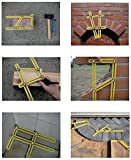 Angle Template Tool – NEW METAL BOLTS - Angleizer Tool For Repetitive Measuring & Marking Shapes & Angles, Angle Template Ruler/Maker Is A Great Stencil For Tile, Patio, Arches