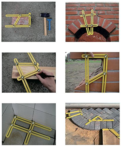 Angle-Template-Tool--NEW-METAL-BOLTS-Angleizer-Tool-For-Repetitive-Measuring-Marking-Shapes-Angles-Angle-Template-RulerMaker-Is-A-Great-Stencil-For-Tile-Patio-Arches