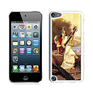 Unique And Antiskid Designed Cover Case For iPod 5 With Saraswati Hindu Goddess White Phone Case