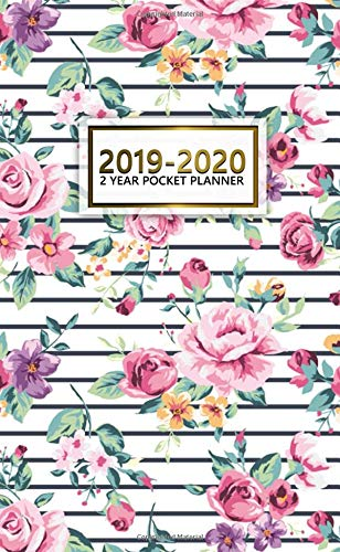 2019-2020 2 Year Pocket Planner: Cute Monthly Two-Year Floral Pocket Planner with Phone Book, Password Log and Notebook. Pretty Floral Planner and Organizer. (Best Colleges For Students With Learning Disabilities 2019)