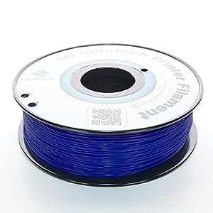 3D Solutech Navy Blue 1.75mm 3D Printer PLA Filament 2.2 LBS (1.0KG) - 100% USA by 3D Solutech