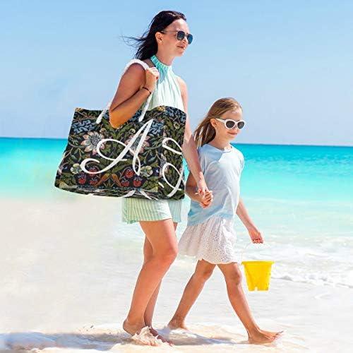 MORITAビーチバッグ プールバッグ トート 大容量 おしゃれ レディース 女の子 レジャー 大きい 大き目 でかい 水着 温泉 旅行 ポーチ 整理 ウィリアム・モリス 美しいパターン アールヌーボー