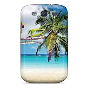 Excellent Galaxy S3 Case Tpu Cover Back Skin Protector Pair Parrots Over The Sea