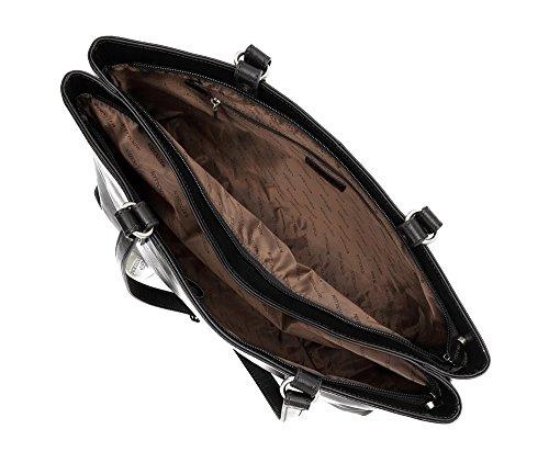 WITTCHEN Borsa classica, Nero - Dimensione: 25x37cm - Materiale: Pelle di grano -Accomoda A4: No - 35-4-205-1
