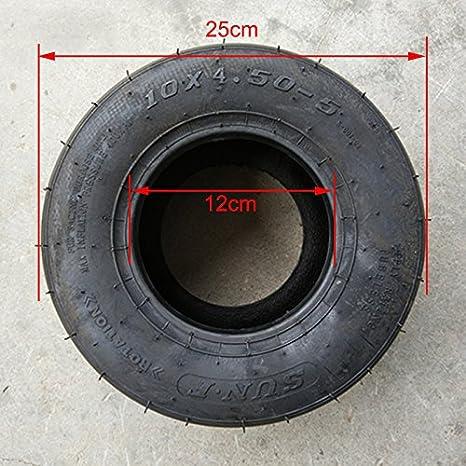 Amazon.com: Neumático Chi Yuan delantero sin cámara de 10 x ...