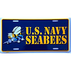 US Navy Seabees License Plate