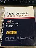 Writing Matters Custom for MSU Denver, Rebecca Moore Howard, 0078112362