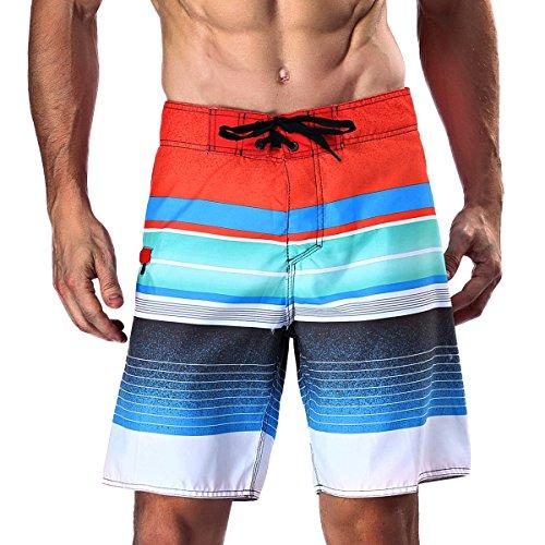 Milankerr Men's Stripe Boardshort by Milankerr