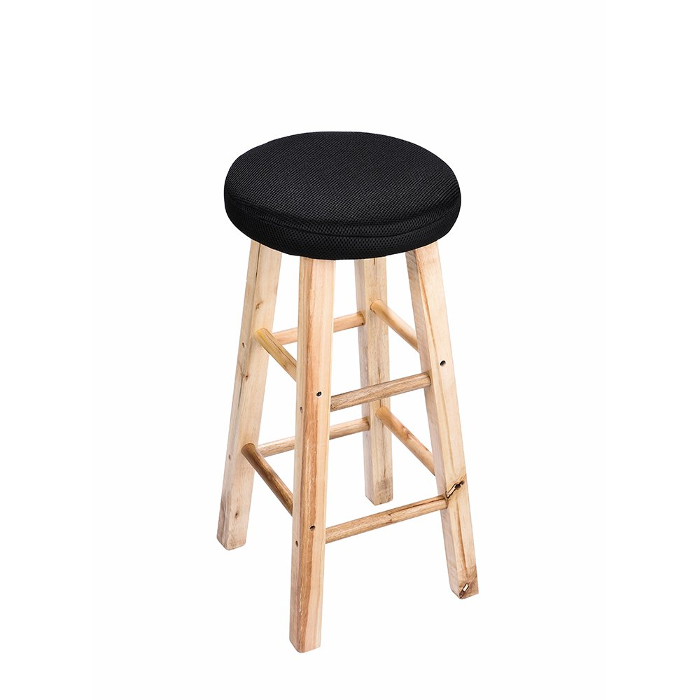 13'' Round Bar Stool Cover, Comfortable Sitting, Full Edges Covering, With 2cm Padding, Proctect or Make Your Stools Chairs, Black