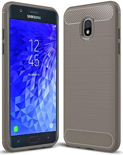 For Samsung Galaxy J7 2018 case, Galaxy J7 V 2nd Gen Case,Galaxy J7 Refine Case,Galaxy J7 Aero,J7 Star,J7 Top,J7 Crown,J7 Aura,J7 Eon,J737V,J737T Sucnakp TPU Protective Case Cover TPU Gray