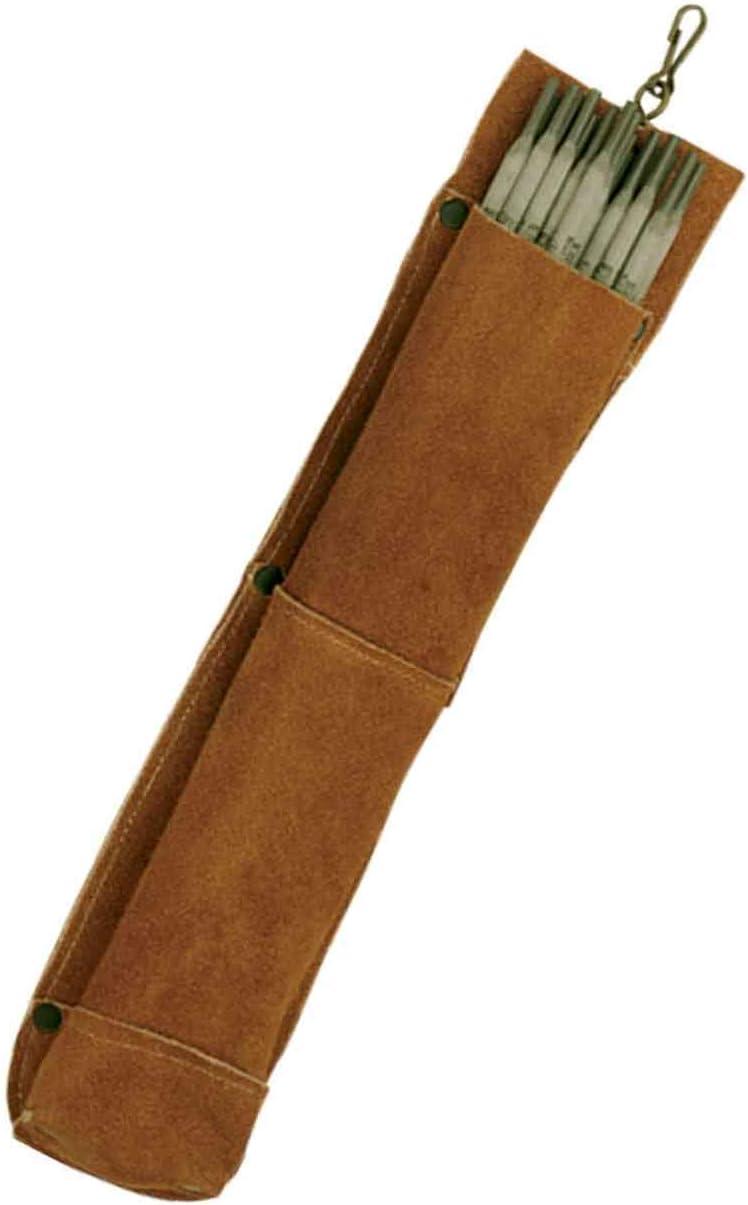 Split Leather Welding Rod Bag Holder Welder Electrode Packet