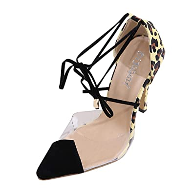 2891c28a7a5 Amazon.com | HHei_K Women Vintage Pointed Toe Leopard Print Pumps ...