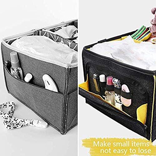 SODIAL Portable B/éB/é Couche-Culotte Organisateur Tote Nappy Grande Taille Essential Nursery Essentials Bacs de Stockage pour Table /à Langer ou Panier de Voyage de Voiture