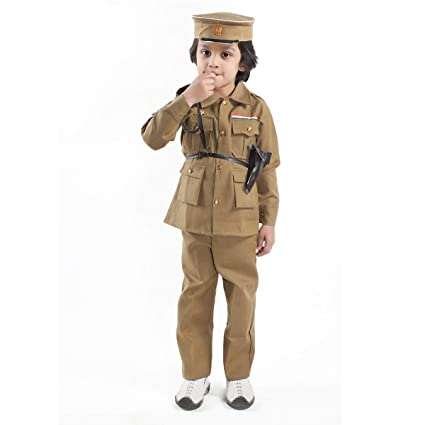 a020894af71 Fancydresswale Police,Army,Military, BSF, Inspector Uniforms fancydresses  for Kids- Police, Khaki