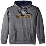 NCAA Marquette Golden Eagles Adult Men Pullover Hood with Contra, Large, Anthracite