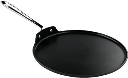 Buy All-Clad 30124 Hard Anodized Aluminum Scratch Resistant Nonstick Anti-Warp Base Round Griddle Pan Cookware, 12-Inch, Silver Online at Low Prices in India - Amazon.in
