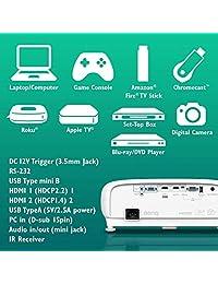 BenQ TK800M 4K UHD HDR Home Theater Projector, 8.3 Million Pixels, 3000 Lumens, 3D, Keystone, HDMI