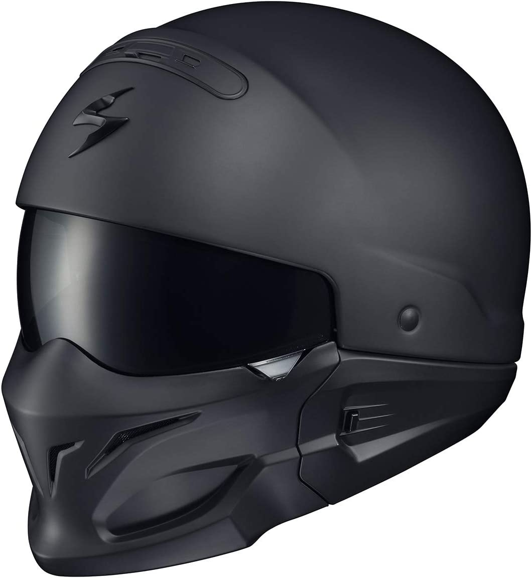ScorpionExo Covert Unisex-Adult Half-Size-Style Matte Black Helmet (Matte Black, XXX-Large)