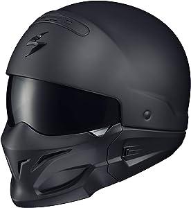 ScorpionExo Covert Unisex-Adult Half-Size-Style Matte Black Helmet (Matte Black, Small)