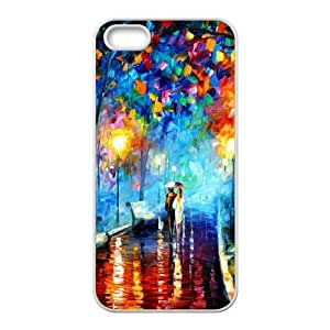 Romantic Couple Walking Painting iPhone 5 5s Cell Phone Case White Exquisite gift (SA_555831)