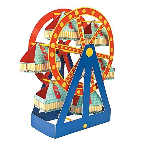 Ferris Wheel Cupcake Stand and Snack Caddy - Birthday Party Supplies (Wheel Decoration Ferris)