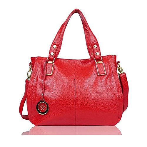 Rouge Femme brun Sacoche À Porté Cuir Cabas Sac Bandoulière E522 Egogo Épaule Pu Main 6 qRU6gwUt