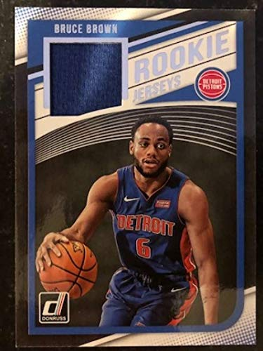 2018-19 Donruss Rookie Jerseys Basketball #37 Bruce Brown MEM Detroit Pistons Official NBA RC Jersey Card made by Panini from Basketball Cards