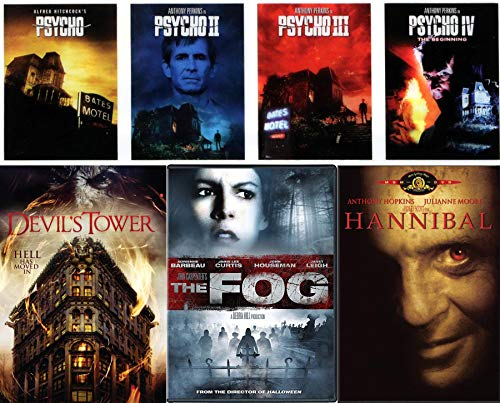 Check into the Horror motel The Complete Psycho 4-Movie Collection Alfred Hitchcock + The Fog John Carpenter & Hannibal + Devil's Tower 7-Movie Thrills & Chills DVD -