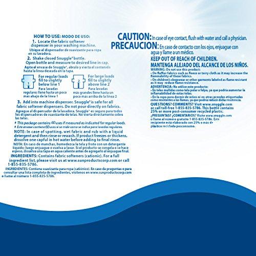Snuggle Liquid Fabric Softener With Fresh Release Blue