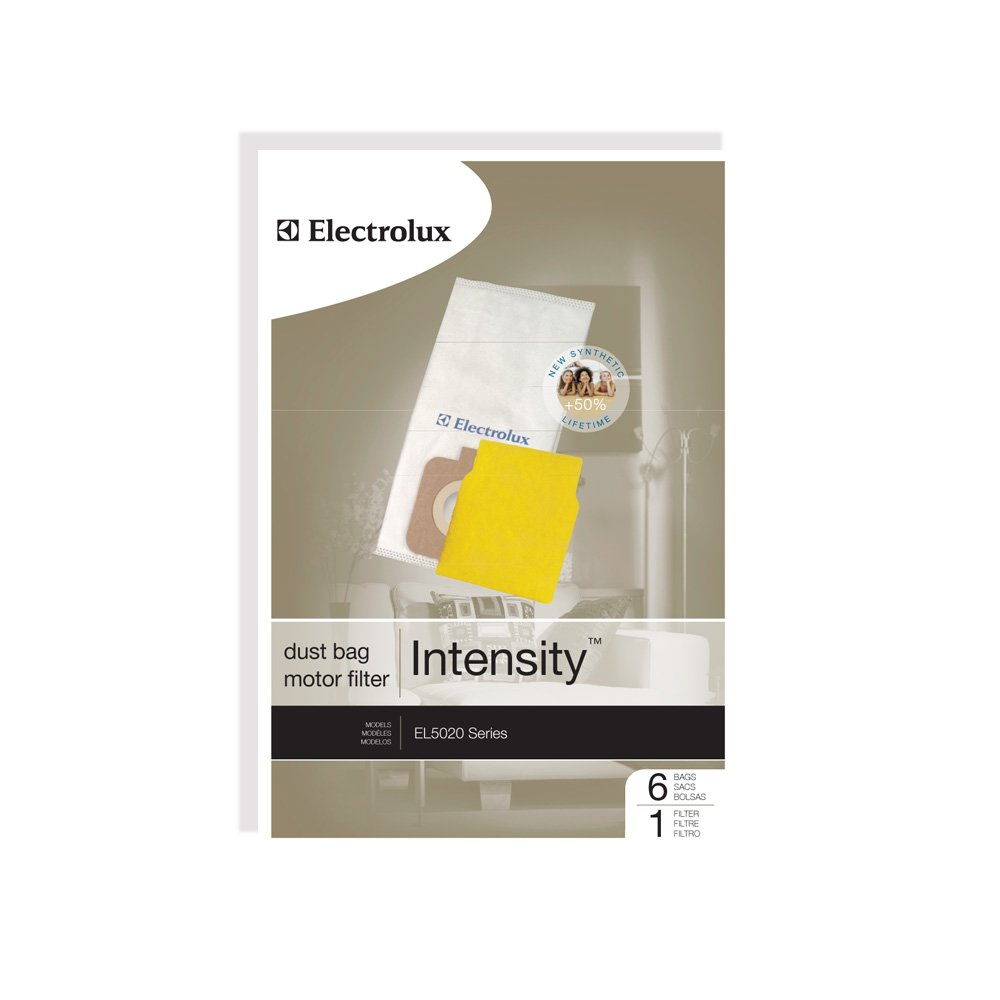 Genuine Electrolux Intensity Vacuum Bag EL206A - 6 bags, 1 motor filter