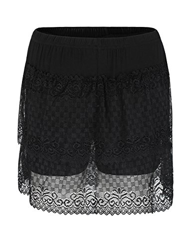 Shorts 281 Half Under for black ADAMARIS Women Stretch Dresses Slips Underskirt Lingerie Modal gwUn0qZ