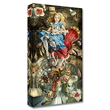 We're All Mad Here - Treasures on Canvas - Disney Fine Art Alice in Wonderland Mad Hatter March Hare Gallery Wrapped Canvas Wall Art by Heather Theurer