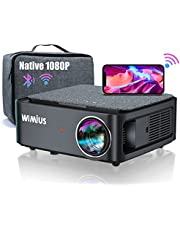 WiMiUS 5G WiFi Bluetooth K1 Projector 4K Support Native 1920×1080P Projector, Compatible with iPhone, Android, TV Stick,Laptop, PC, Bluetooth speakers and etc.,Suitable for Home/Outdoor Video Projector for PPT