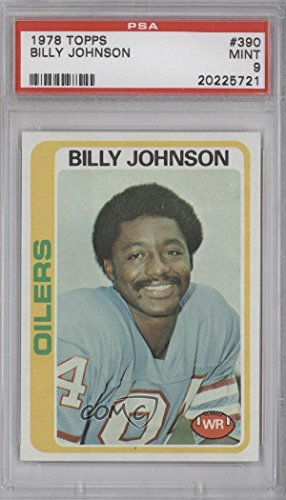 Billy Johnson PSA GRADED 9 (Football Card) 1978 Topps - [Base] #390