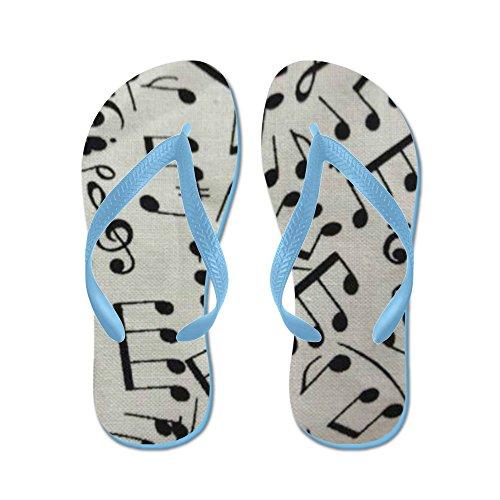 CafePress Music Is Universal - Flip Flops, Funny Thong Sandals, Beach Sandals Caribbean Blue