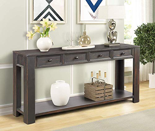 (P PURLOVE Console Table for Entryway Hallway Easy Assembly 64