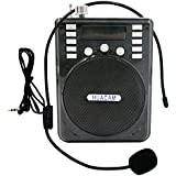 HUACAM HWS24 Rechargeable Voice Amplifier,Portable Waistband Microphone with Waist/Neck Band & Belt LoudSpeaker Microphone PA System for Teachers,Presentations,Coaches,Tour Guides,Emcees,black
