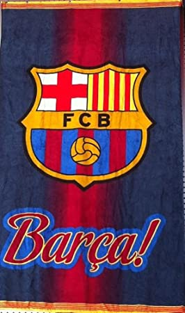 TOALLA DEL BARÇA FC Barcelona FCB PISCINA O PLAYA 170 X100 CM: Amazon.es: Hogar