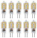 KINDEEP 1.5W G4 LED Bulb, Bi Pin Base, 20W Halogen Bulb Equivalent, AC/DC 12 Volt, Warm White 3000K, 10-Pack