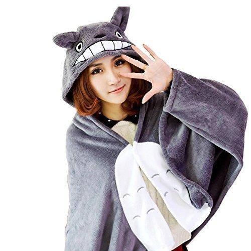 Besttime 150cm70cm Totoro Cape Cloak Lounged Fleece Air Blanket