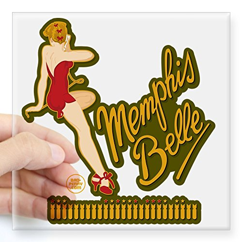 Special Nose Art (CafePress - Memphis Belle Red Nose Art Square Sticker 3