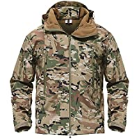 TACVASEN Men's Special Ops Military Tactical Soft Shell...