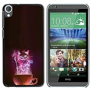 // CIUDAD ACTUAL MECELL // SmartPhone funda carcasa de plástico duro PC selected para HTC Desire 820 /// Gato Halloween de miedo fumara arte ///