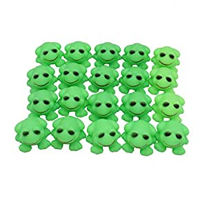 MAISHO Baby Kids Squeaky Rubber Frog Baby Shower Water Birthday Favors Gift, Pack of 20