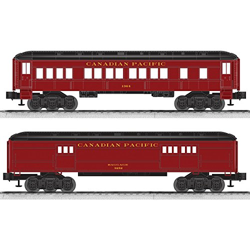 Lionel Canadian Pacific Coach/Baggage Baby Madison Passenger Car (2 Pack)