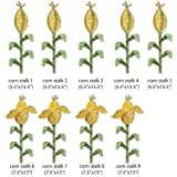 My Wonderful Walls Farm Theme Wall Stickers, Corn Field, Yellow/Green