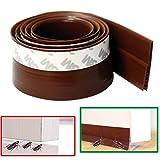 Door Bottom Draft Stoppers , Ansoon 3.3 Feet (1M) Self Adhesive Silicone Rubber Weatherproof Door Seal (Brown)