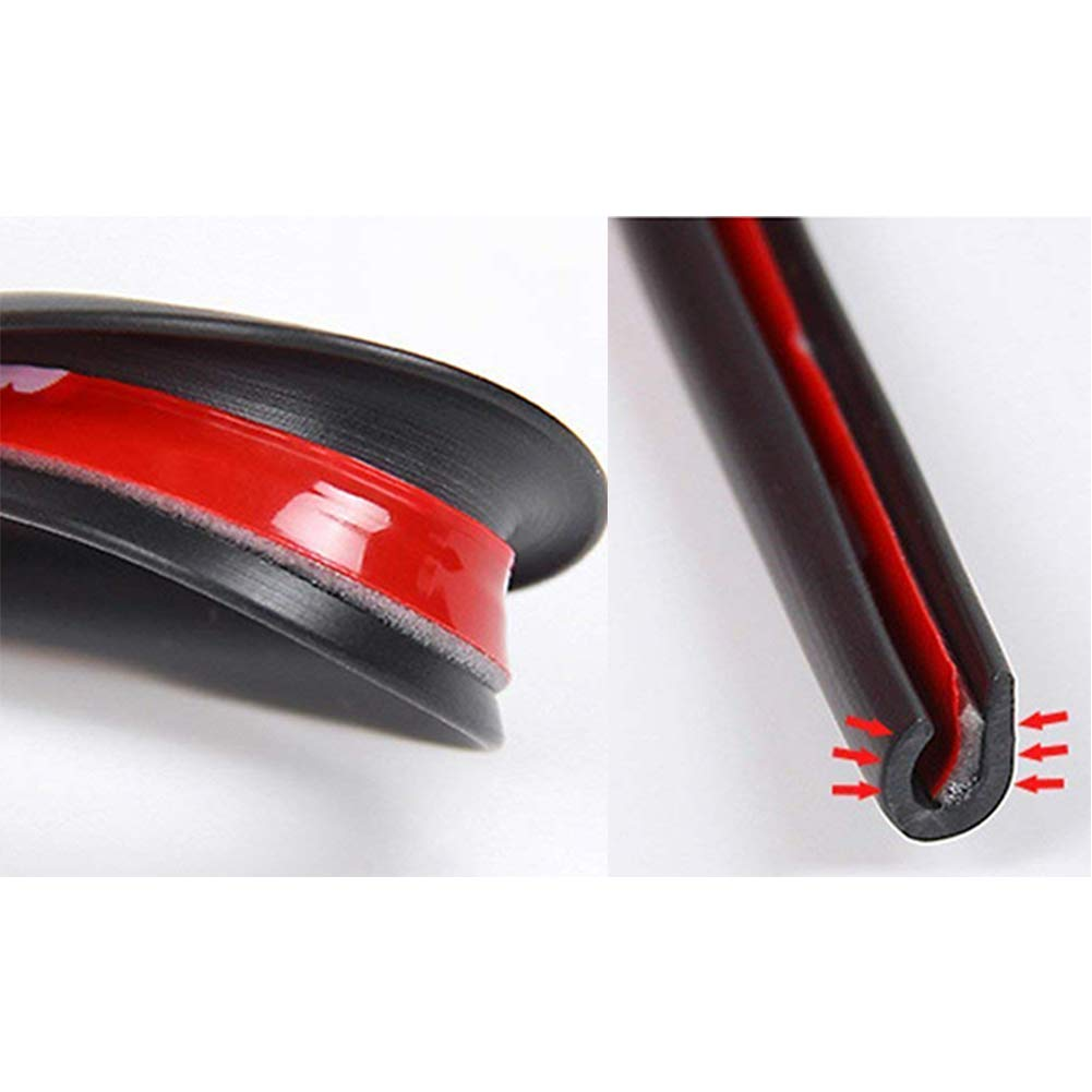 16Feet Edges of Vehicle Lids Hoods Doors and Grilles Car Door Edge Guards Clear 5m Trim Rubber Seal Protector Guard Strip Car Lining Protection