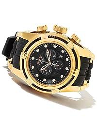 Invicta Men's 12666 Bolt Reserve Chronograph Black Carbon Fiber Dial Black Polyurethane Watch